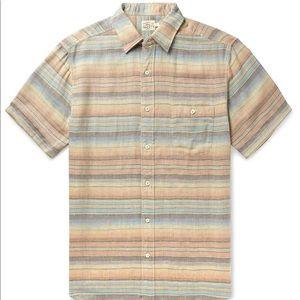 Faherty Men's multicolor ss coast shirt size XL